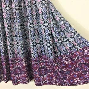 J. Jill Skirts - J.Jill Smocked Waist A-line Printed Maxi Skirt